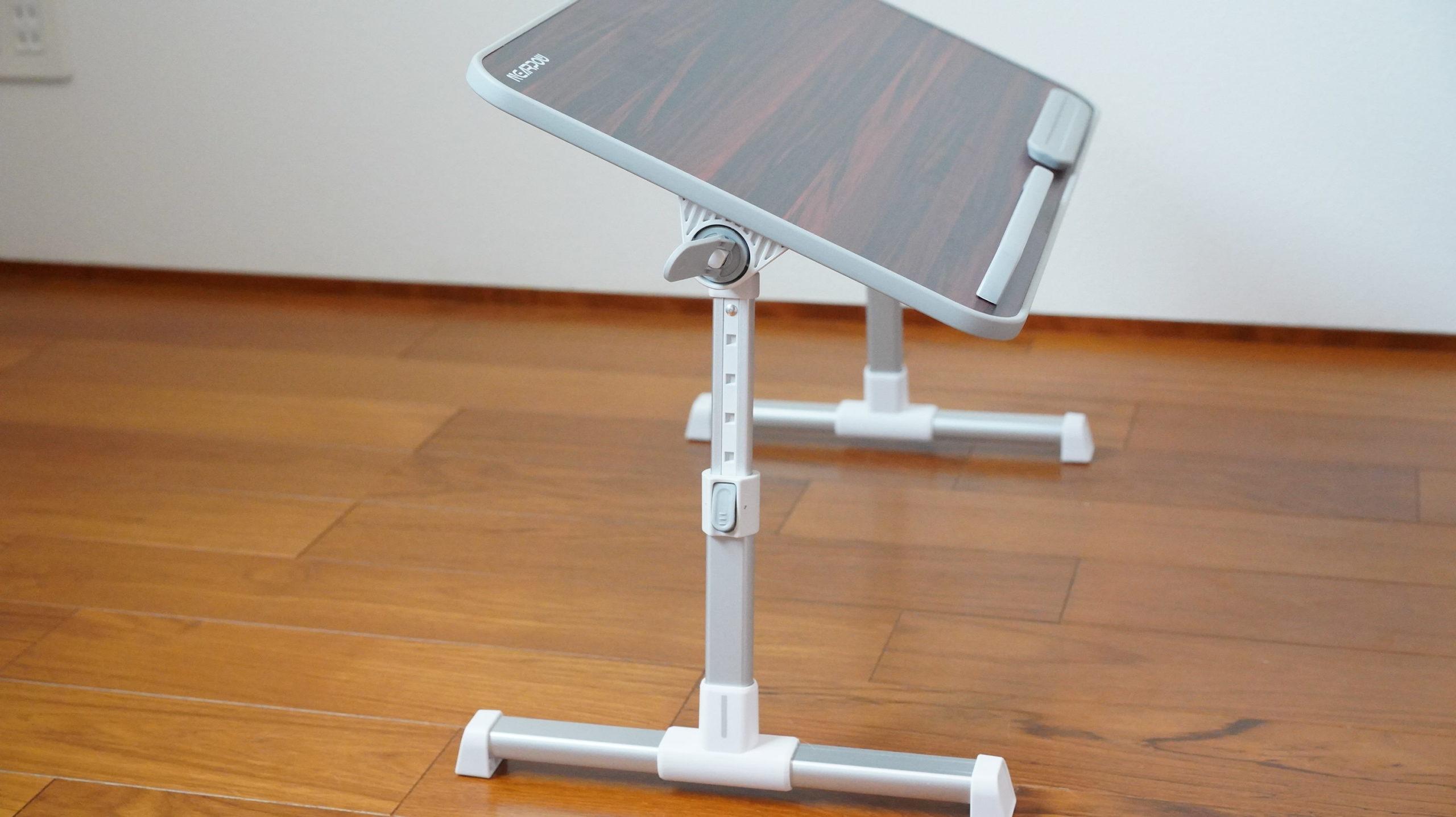 ソファやベッドでパソコン(ノートPC)の作業を姿勢良く行い、膝での作業をなくす最適なテーブル・スタンド14